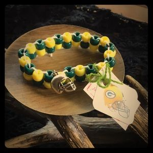 Jewelry - Football bracelet... green and yellow
